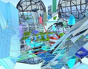 3D Abstract Art Mess