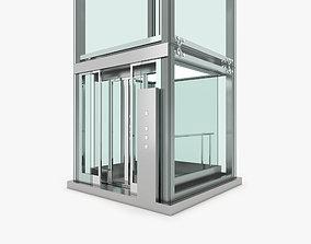 3D Elevator glass