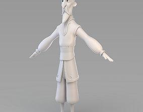 Cartoon Old Wizard 3D model