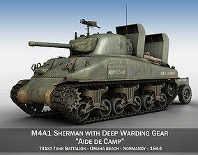 3D m-4a1 M4A1 Sherman - Aide de Camp