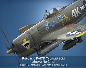 3D model Republic P-47D Thunderbolt - Sigma Nu Girl