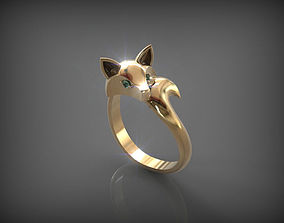 3D printable model Fox Ring rings