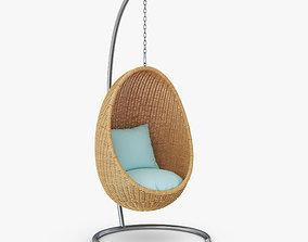 3D model Hanging Wicker Chair