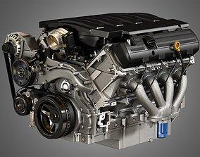LT1 Engine - V8 Small Block Engine 3D model