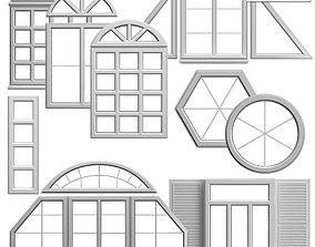 set of windows 3D