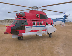 Super Puma AS-332B Helicopter 3D model