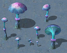 Cartoon Edition - Ancient Chi You mushrooms 3D