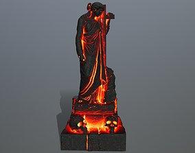 volcanic 3D asset realtime statue 5