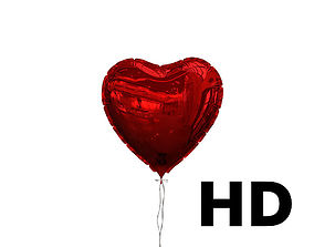 Heart shaped balloon HQ 3D model