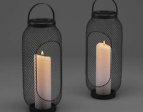 IKEA TOPPIG Lantern for block candle 3D model