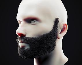 3D asset Beard Low Poly 12