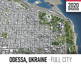 3D asset Odessa - city and surroundings