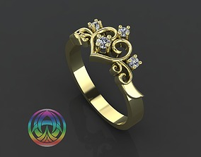 3D print model jewelry diamond ring