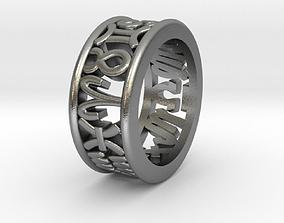3D printable model 47size Constellation symbol ring