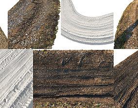 Ralistic scanned roads 3D