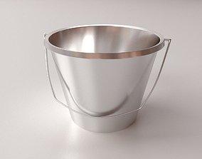 Stainless Steel Bucket 3D model