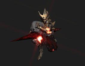 Terror berserk rider 3D model animated