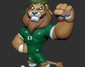 Lion Mascot Cartoon 3D Model football