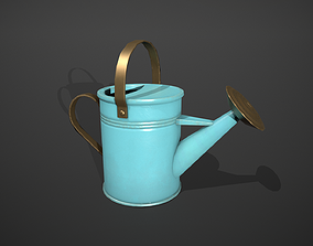 Blue Watering Can 3D asset