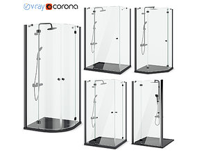 Cabin showers Radaway Torrenta black 3D