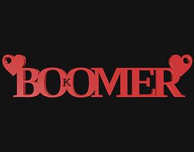 meme 3D print model OK Boomer Pendant