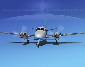 Beechcraft King Air 100 Bare Metal 3D