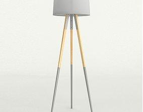 Floor lamp tripod Anthropologie 3D asset
