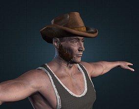 3D model OLD FARMER