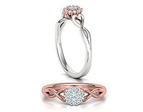 Paradise Own design ring Promise ring 3dmodel