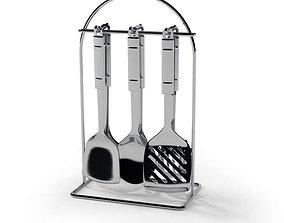 Stainless Steel Kitchenware 3D