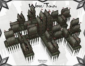 Water-Town 3D model