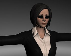 Female Agent And Secretary Character 3D asset