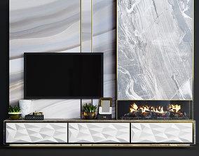 3D model Fireplace modern 15