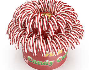 Christmas candy basket 3D