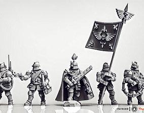 Feudal Guard Command Squad 3D printable model