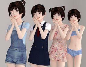 Eri various outfit pose 01 3D