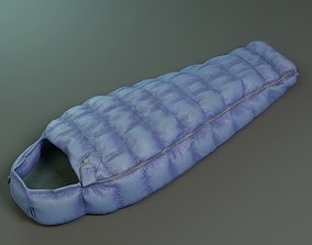 Sleeping bag 3D model low-poly