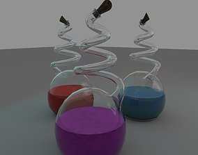 Potions 3D asset game-ready