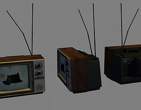 3D asset Broken TV
