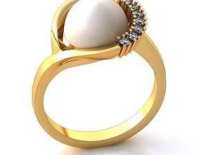 Pearl Ring BK31-1 3D
