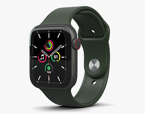 3D Apple Watch SE 44mm Aluminum Space Gray