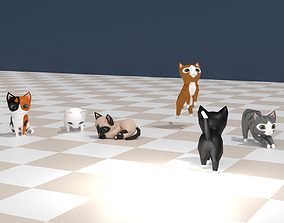 3D asset Chibi cat V1