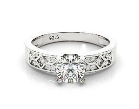 3design price created white sapphire engagement ring