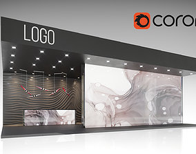 3D model exhibition design 12x8m corona renderer