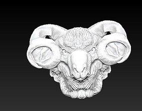 horned ram bust 3D printable model
