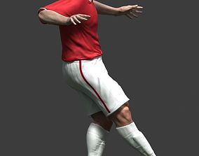 Soccer player 3D asset animated