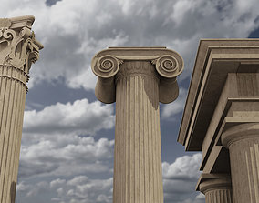 Classical architectural column pack - Doric ionic 3D model
