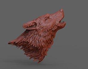 3D print model Howling wolf mammal