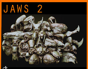 JAWS 2 - Another 33 Monster Mouths and Skulls IMM 3D model