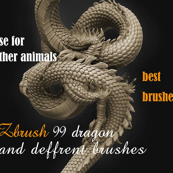 99 brushes for dragon and other animals